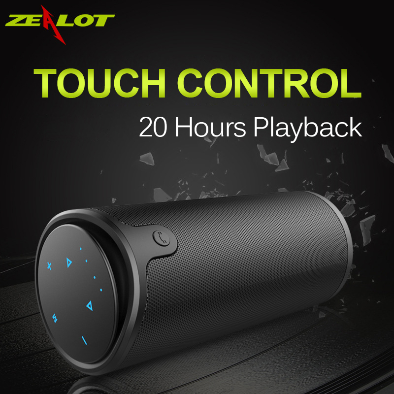 ZEALOT S8 HiFi Stereo Wireless Bluetooth Speaker Touch Control 3D Surround Sound Sport Subwoofer Support TF