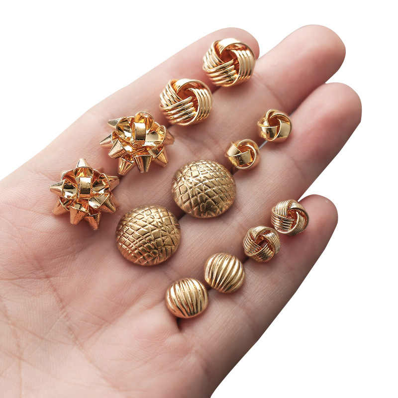 Trendy Vintage Handmade Geometric Earrings Fashion Stud Earrings For Women Jewelry Accessories Girl Gift 2019 boucle d'oreille