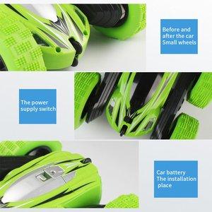 Image 3 - Dublör Rc araba, uzaktan kumanda araba, 360 derece çevirir çift taraflı döner yarış arabası, yüksek hızlı yanıp sönen uzaktan kumandalı