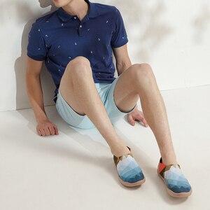 Image 5 - UIN בוקר מקורי עיצוב צבוע בד נעלי גברים אופנה מוקסינים רחב רגליים כחול סניקרס קל משקל נוחות נעליים יומיומיות