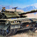 Strass trompetista tanque de C1 Ariete MBT armamentos conjunto adulto estática modelo de construção Kits brinquedos com a instrução