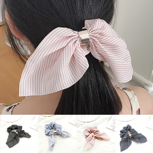 цена на Elastic Hair Band  Rope For Women Girls Rubber Band Tie Scrunchies Cute Rabbit Ear Striped