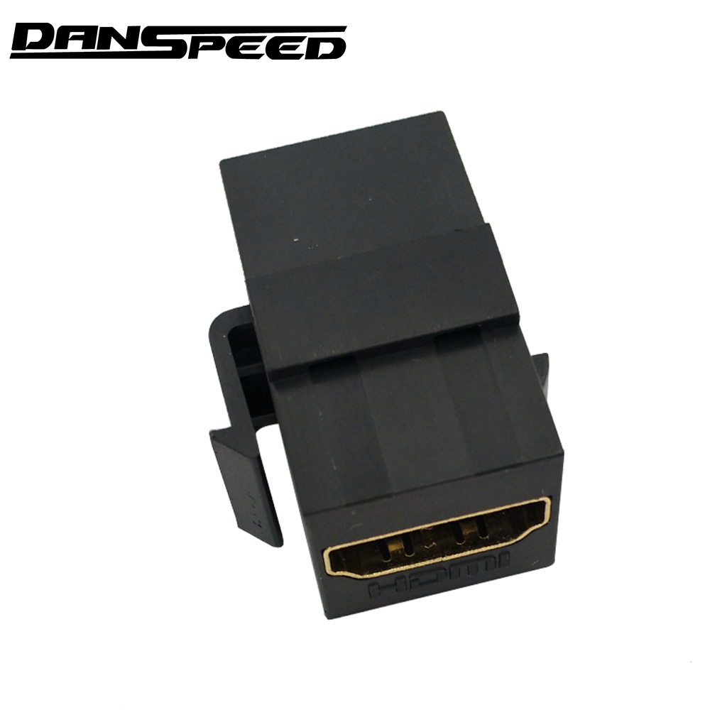 DANSPEED HDMI Keystone Insert Coupler HD Wall Plate Converter Adapter Jack Female To Female BlackDANSPEED HDMI Keystone Insert Coupler HD Wall Plate Converter Adapter Jack Female To Female Black