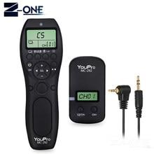 YouPro – télécommande sans fil MC-292 G DC0/DC2/N3/S2/E3/E2, canaux de déclenchement avec minuterie LCD pour Canon/Sony/Nikon/Fujifilm, 2.4