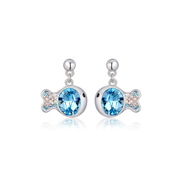 earrings silver disco product crystal ball blue shamballa light stud