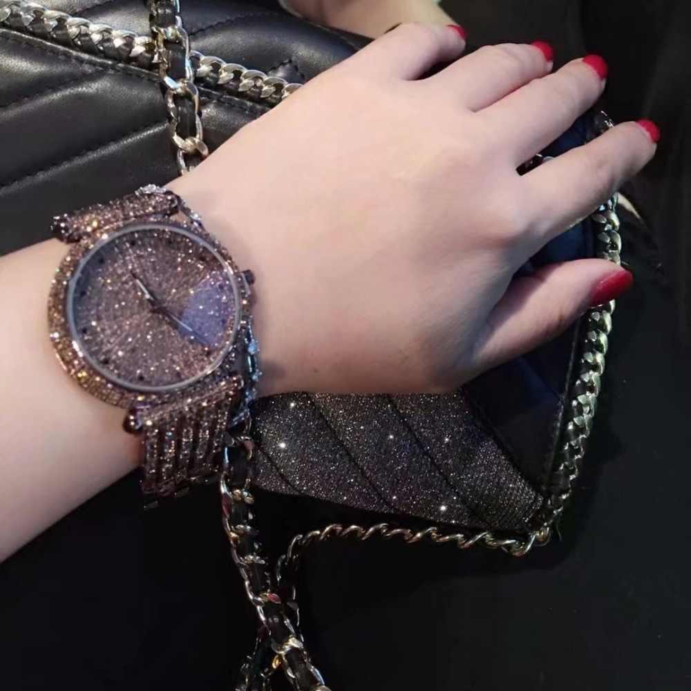 ラインストーンダイヤモンドレディース腕時計2017新しいファッションlgxigeブランド高級腕時計女性ブレスレット真鍮金属時計montreファム