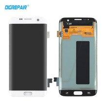 Черный бело-золотые ЖК-дисплей Дисплей Сенсорный экран планшета Ассамблеи Запчасти для авто для Samsung Galaxy S7 край G935 G935F T FD P V