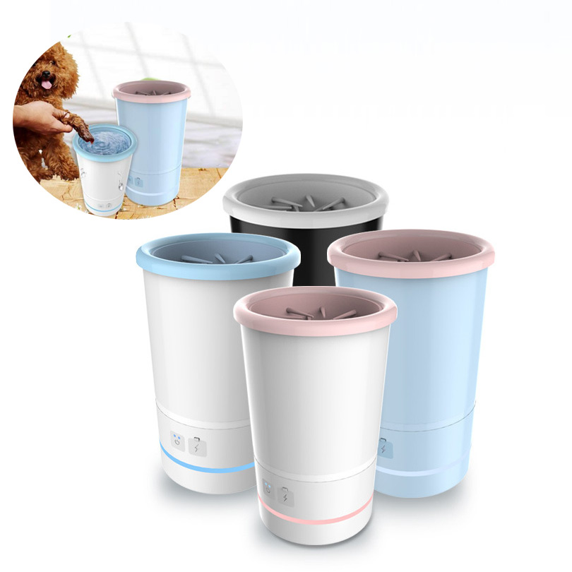 Automatic Dog Paw Cleaner 2018 Innovation Portable Electric Pet Foot Washer Cup 8H Working Time USB