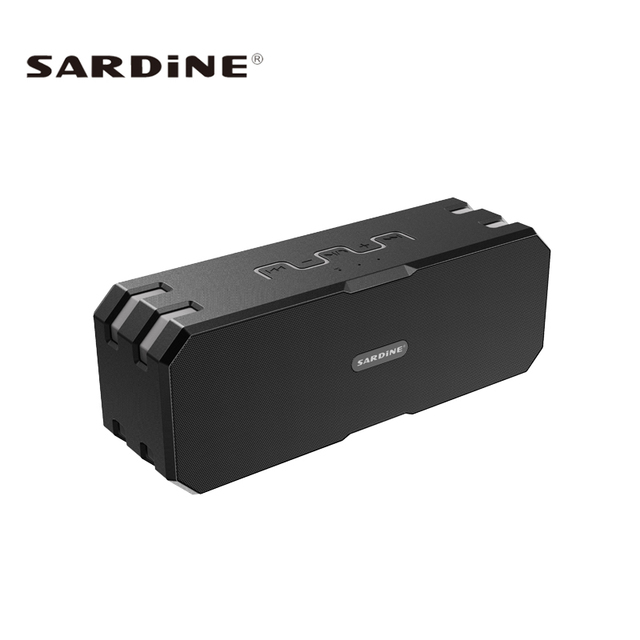 Sardine F4 HiFi Bluetooth Speaker Portable Outdoor Sports Waterproof Wireless Subwoofer Music Audio Player Support TF/AUX IN