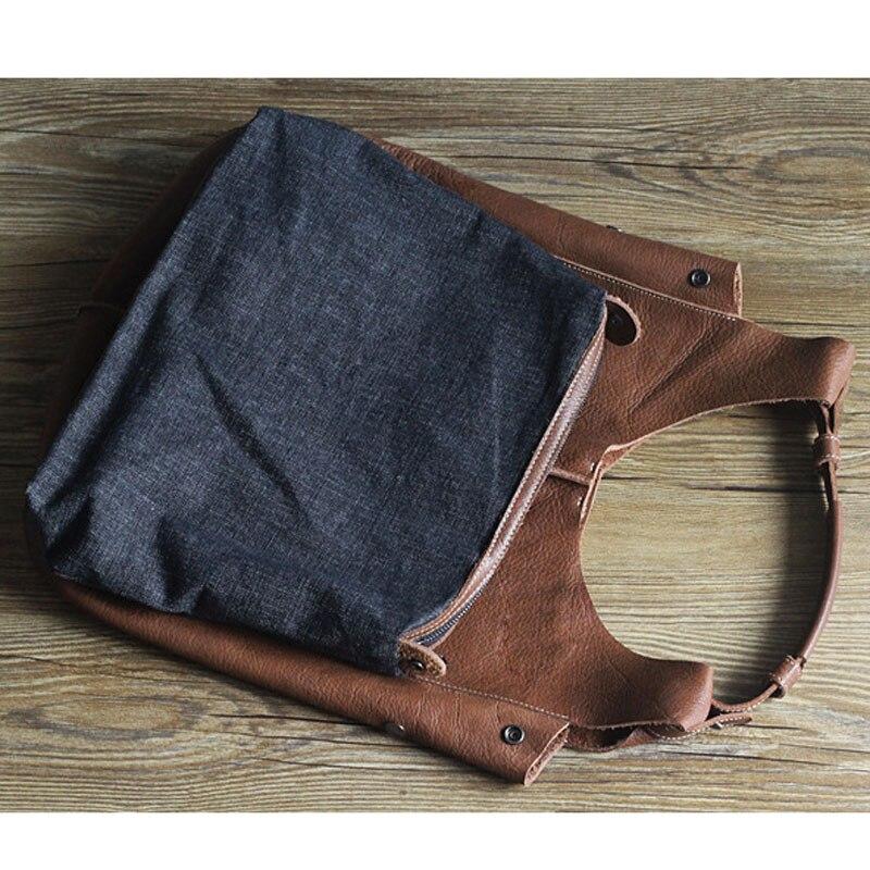 Pack Japonais Grande Lapin Épaule Manteau Véritable Main 3 Sac Cowboy Aetoo De Capacité À 2 Style Femmes En 1 Cuir w8SqvBO