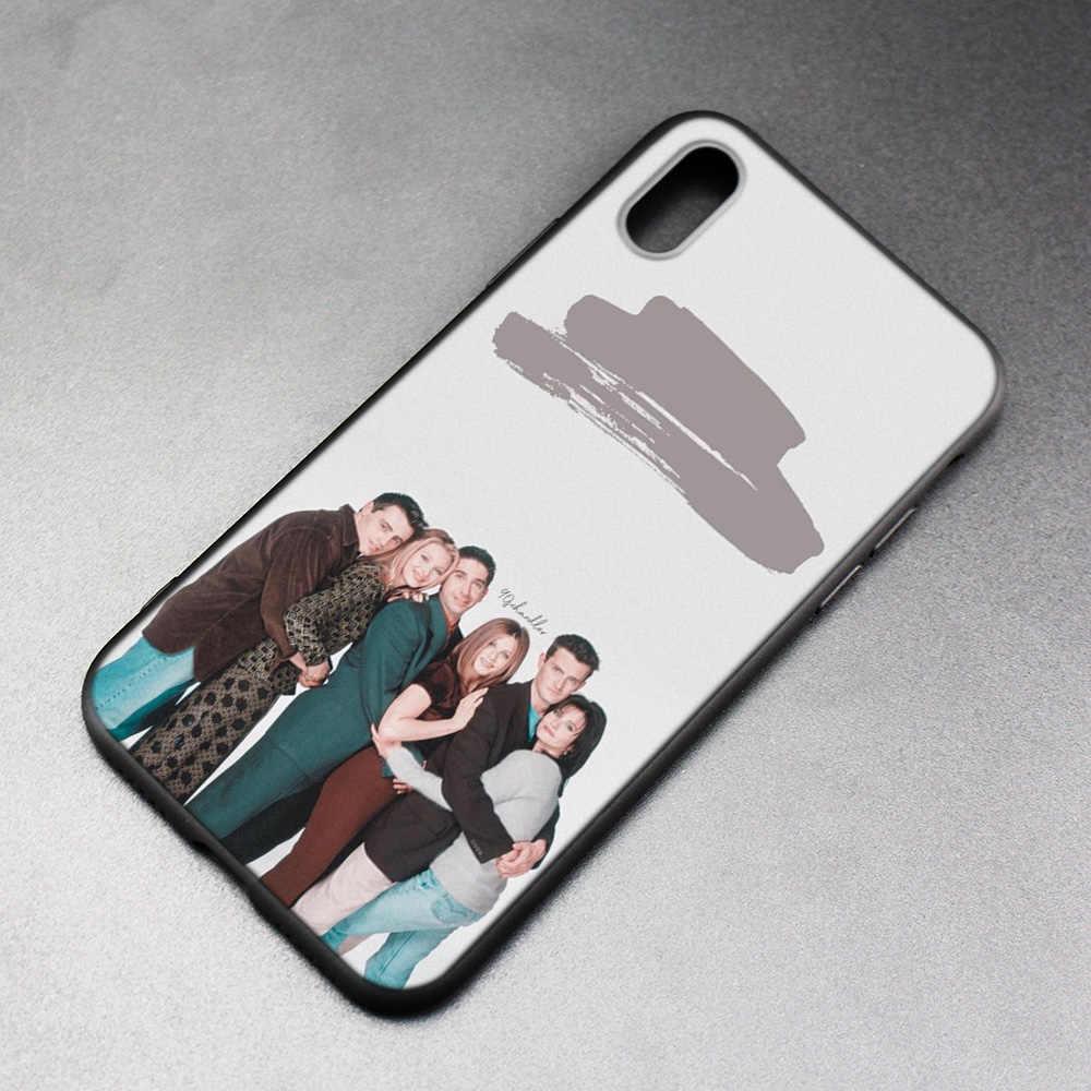 Cas FRIENDS Забавный ТВ-шоу Черный Резиновый ТПУ силиконовый чехол для iPhone X XS XR XS 11 11Pro Max 7 8 6S 5 5S 5C SE Plus чехол