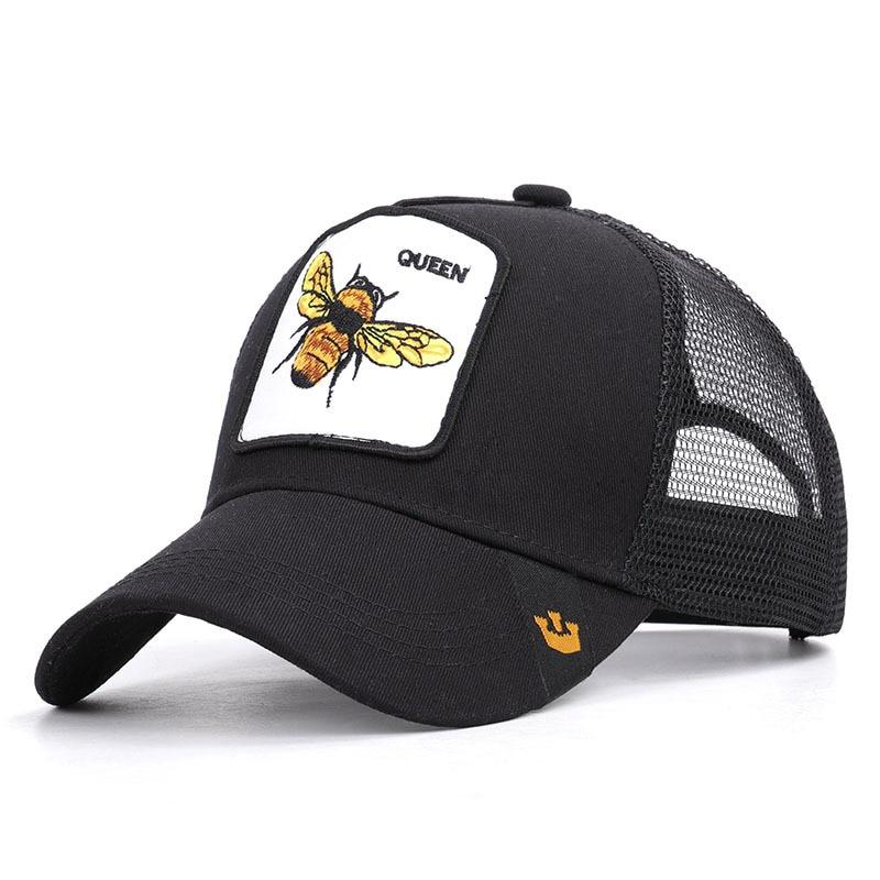 2019 New Animal   Baseball   Mesh Hat QUEEN Bee   baseball     caps   Cotton For Men/Women Sun hat