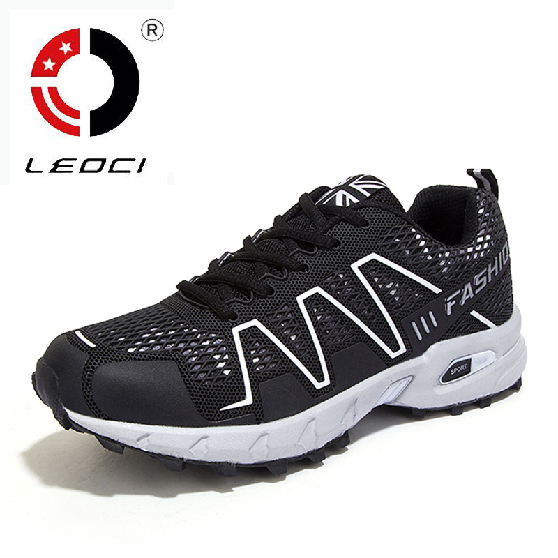 LEOCI Brand Trail Running Shoes Men Shoes Sport font b Sneakers b font Cross Country Outdoor