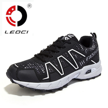 LEOCI Brand Trail Running Shoes Men Shoes Sport Sneakers Cross Country Outdoor Shoes Breathable Trekking Shoes Size 39-45