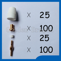 Free Shipping PT 31 LG 40 Plasma Cutter Cutting Torch Consumables Extended KIT 250PK