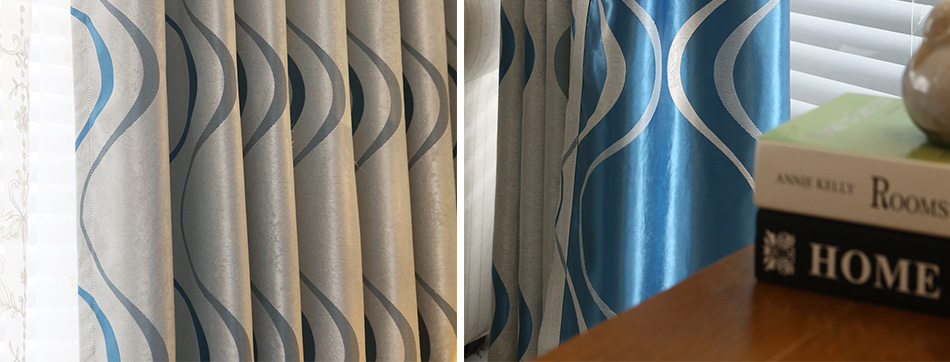 Topfinel grosso luxo ondulado listrado cortinas da