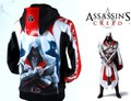 2014 New Free Shipping Assassin's Creed Cosplay Cotton Hoodies Coat cool Sweatshirts Anime Game Products