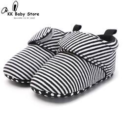 2018 обувь унисекс для маленьких девочек и мальчиков, пинетки для новорожденных, Классическая подошва, 0-18 месяцев, мягкая детская кроватка