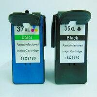 Vilaxh Siyah & renkli Mürekkep Kartuşu Için Lexmark 36 Için lexmark 37 X3650 X4650 X5650 X6650 X6675 Z2420 Yazıcı mürekkep