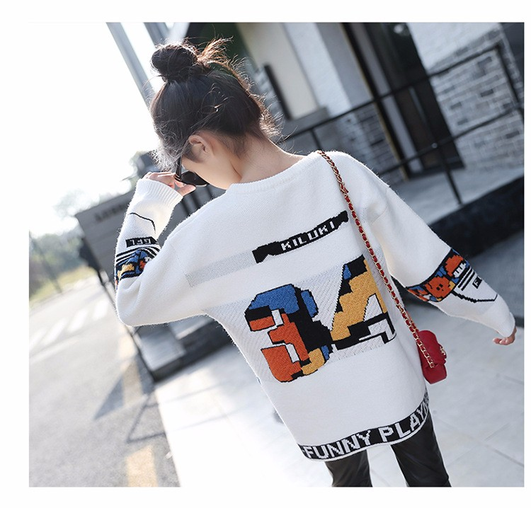 loose knitted sweater girls winter autumn spring 2017 new white character knitting teenage little girls sweaters and pullovers 6 7 8 9 10 11 12 13 14 15 16 years old little teenage big girl sweaters for kids (12)
