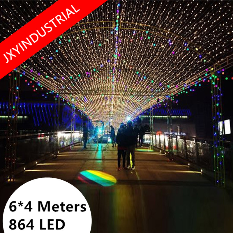 Free Shipping 4m*6m 860LED Net Mesh Net Lights Christmas Wedding Party Fairy String Light with 8 modes Controller EU/US/UK Plug