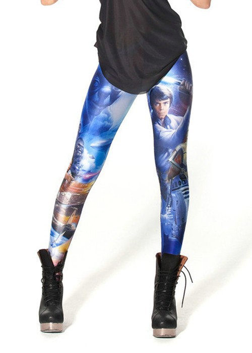Hot 3133 sexy girl women Star Wars R2 robot Lightsaber 3D prints running elastic fitness sport leggings Yoga Pants