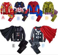 Spiderman Boys Pijamas With Long Sleeve Cartoon Boys Clothes Kids Superman Pajamas Children SleepWear Favourite 3t 4t 5 6 8