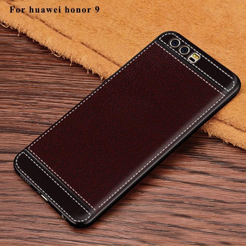 Θήκη σιλικόνης Litchi Cortex για Huawei Honor 9 - Ανταλλακτικά και αξεσουάρ κινητών τηλεφώνων - Φωτογραφία 5