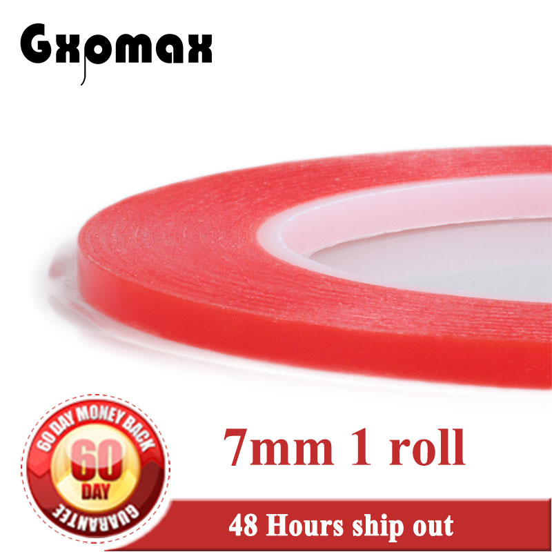 (0.2mm Thick) 7mm Strong Acrylic Gel Adhesive Double Adhesive PET Clear Sticky Tape No Trace High Temperature for Screen LED 2rolls 1mm 5mm 5m strong pet adhesive pet red film clear double sided tape no trace for phone lcd screen free shipping
