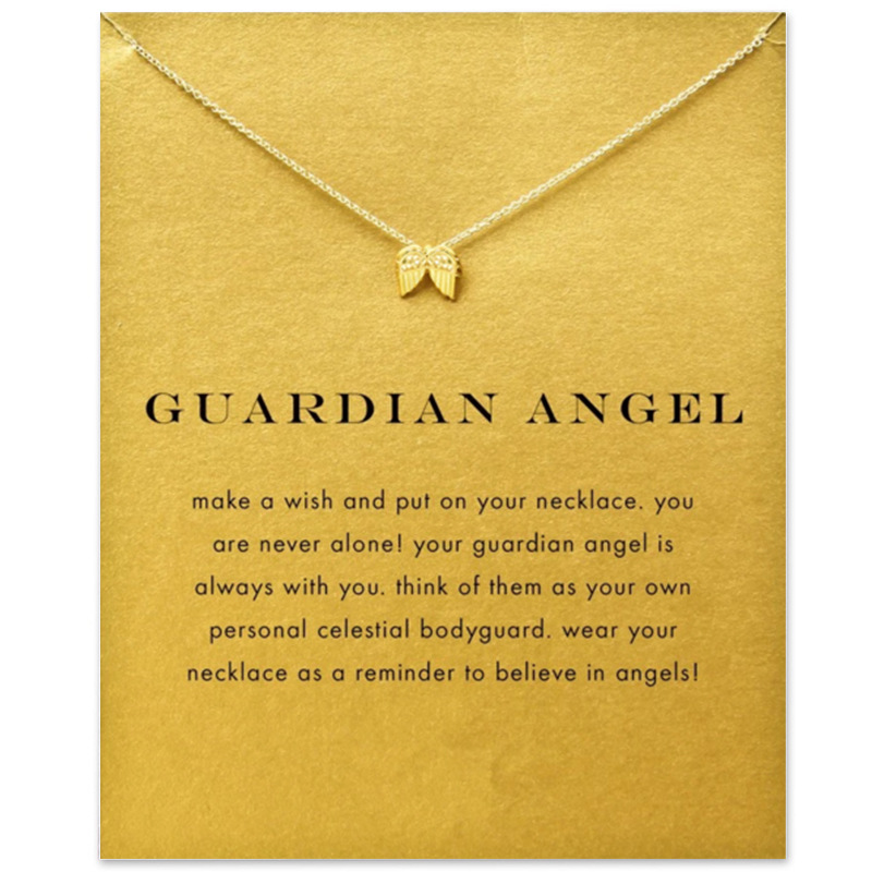 JEPHNE New Guardian Angel Wing Charm Pendant Necklace Clavicle Chains Statement Necklace Women Fashion Jewelry Party Accessories