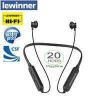 Lewinner x7 plus bluetooth fone de ouvido microfone embutido sem fio leve neckband esporte fones estéreo auriculares