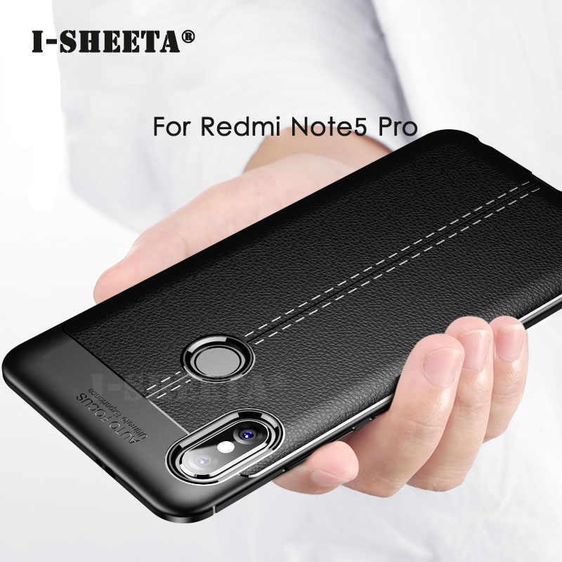 Ultra Ince Deri Doku Xiaomi Redmi Için Not 7 6 5 Pro Mat Yumuşak TPU Silikon Tampon Geri Durumda redmi Not 7 Pro Kapak