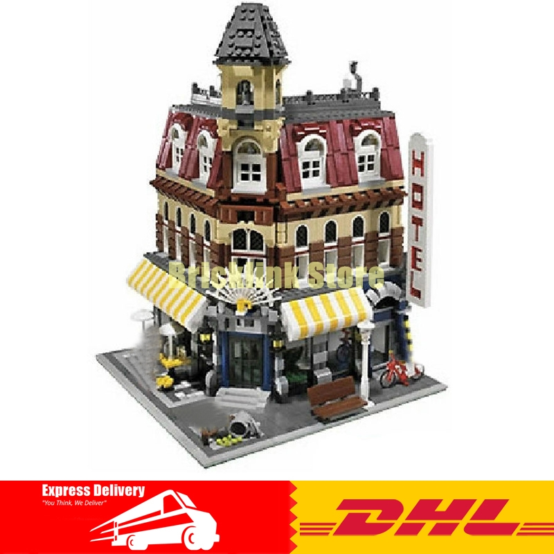 2016 New 2133Pcs LEPIN 15002 Cafe Corner Model Building Kits Blocks Kid Brick Toy Gift Compatible With 10182 lepin 02012 city deepwater exploration vessel 60095 building blocks policeman toys children compatible with lego gift kid sets