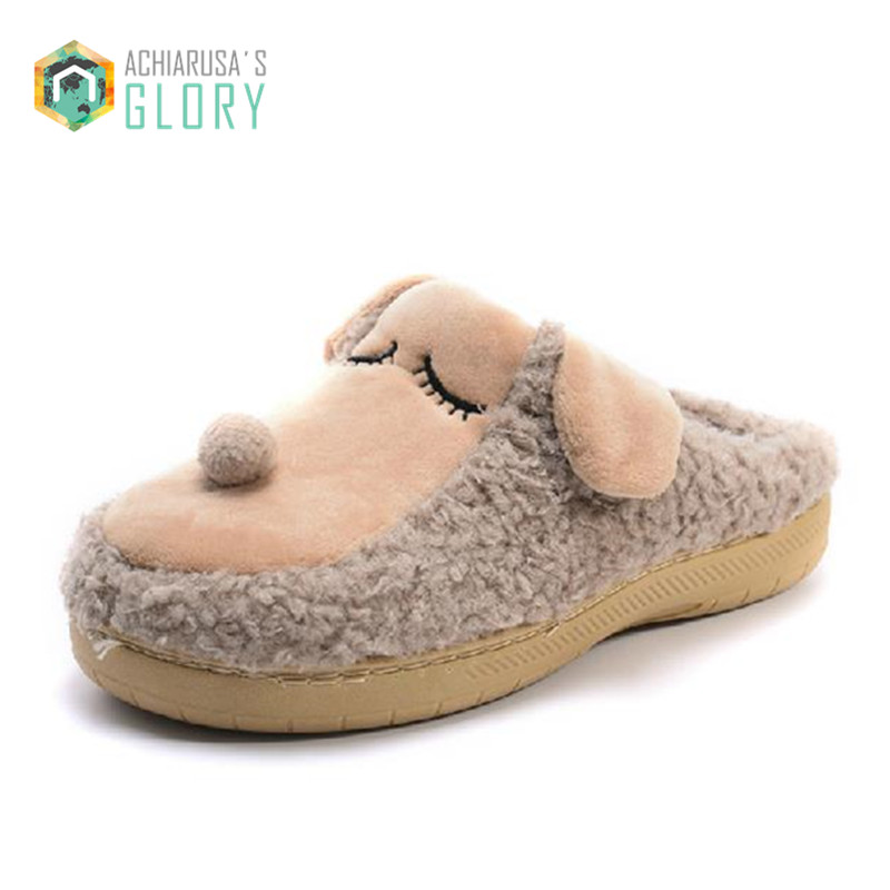 Winter Slippers 2016 Men women Dog Cotton Pantoufle Minion Slipper Home Indoor Floor Female Plush Covered Shoes CSS-419 wholesale despicable me 2 home slippers precious milk dad floor slippers ladies shoes spring minion slippers drop shipping