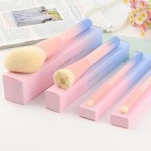 цена на 2016 Gradient Color Pink Powder Makeup Brushes VDL pantone 4pcs Set Make up Brush with Box