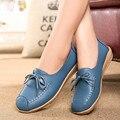 Ручной работы, натуральная кожа балета плоские туфли женщины женщина повседневная обувь квартиры обувь slip on leather car-стиль плоские туфли 8879 Вт