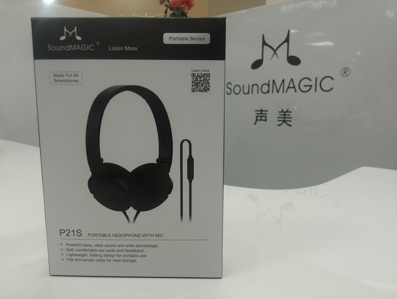SoundMAGIC P21S Portable headset headphones with microphone Control for all Smartphones HIFI Sound Super Bass Sound цены
