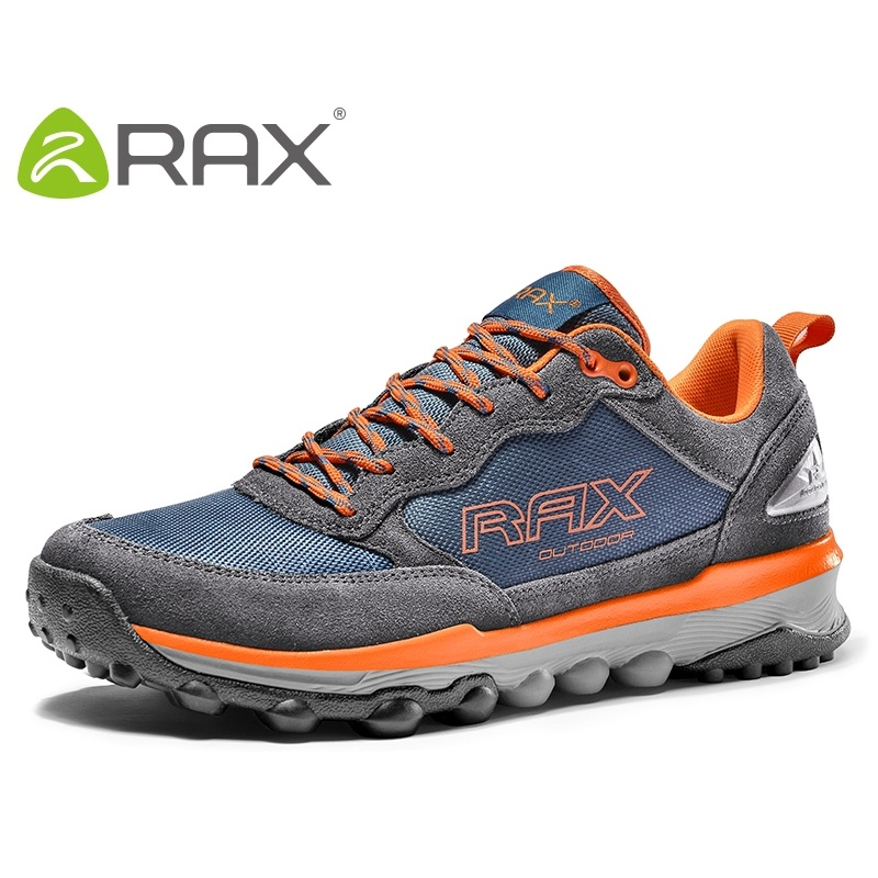 Rax Men Hiking Shoes Genuine Leather Hiking Shoes For Men Autumn And Winter Cushioning Outdoor Walking Shoes #B2278