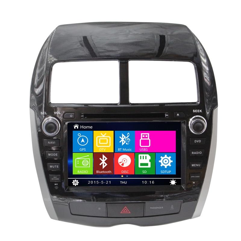 8 car dvd player gps navigation system for mitsubishi asx. Black Bedroom Furniture Sets. Home Design Ideas