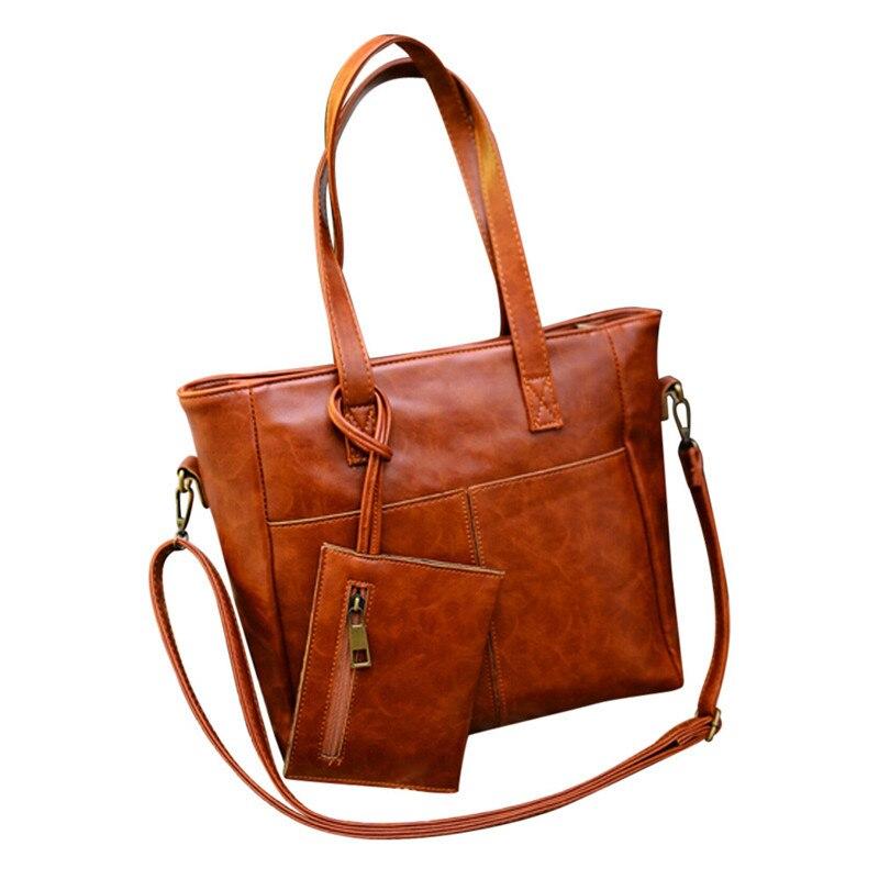 OCARDIAN Borse Moda donna Borse A Spalla In Pelle Con Corssbody Bag & Handbag + Frizione Wallet #1221