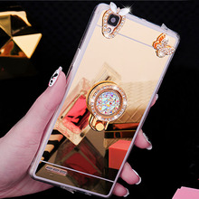 Luxury Shiny Mirror Case For iphone X XR XS Max Diamond Cover 5 5S 6 6s 7 Plus 8 Phone TPU Ring Holder Stand