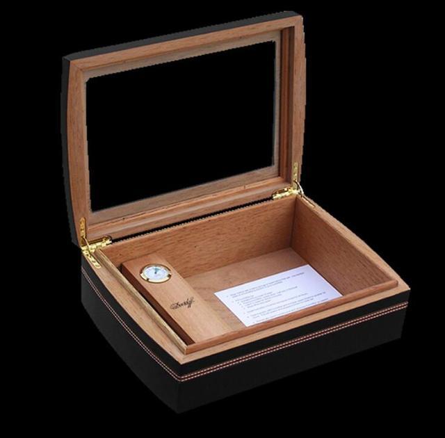good quality New  Luxury  Cedar Wood Cigar Humidor Pretty Storage Box