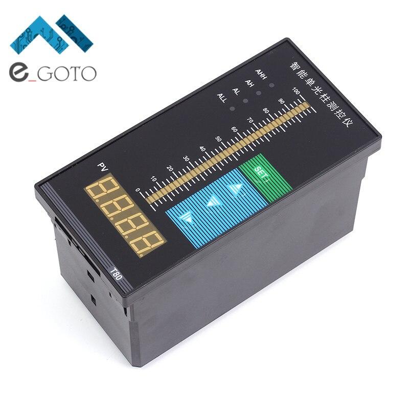 Water Liquid Level Digital Display Meter 1m Probe Beam Water Gauge Liquid Level Controller 4 bit