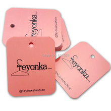 garment hangtags/clothing printed swing tags/label /decorations tag Free Shipping+drill hole+Glue needle