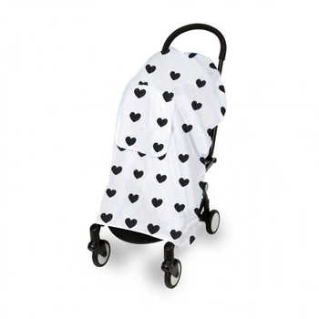 Muslin 100% Cotton Baby Stroller Cover Baby Swaddles Soft Newborn Blankets Infants Protection Mesh Stroller Accessories - DISCOUNT ITEM  35% OFF All Category