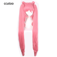 ccutoo 120cm Super Long Sailor Moon Sailor Chibi Chibiusa Synthetic Curly Cosplay Wig With Chip Ponytails Heat Resistance Fiber