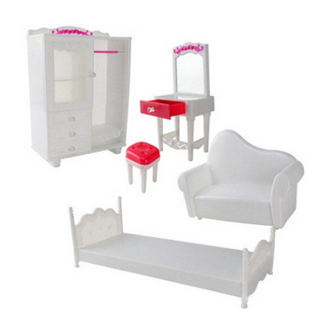 Enjoyable Us 10 99 30 Off 5 Pcs Kawaii Cute Doll House Furniture Accessories Kit Wardrobe Dresser Chair Sofa Bed For Barbie Dolls Toys Children Girls Gift On Bralicious Painted Fabric Chair Ideas Braliciousco