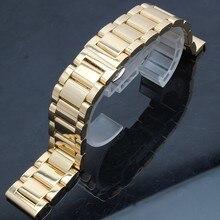Acero inoxidable del envío gratis correa de metal correa de hebilla de mariposa plata oro negro 18 mm 20 mm 21 mm 22 mm 24 mm pulseras de reloj