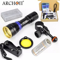 ARCHON DL01 Diving blue light underwater Photographing lamp LED professional diving flashlight torch power 12W + battery charger