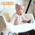 Brand New Children Sweaters Rabbit Ears Boys Girls Sweater With Hooded Wool Cotton Knitwear Winter Infant Sweater Kids Clothing